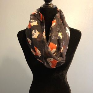 Accessories - Black Fox & Raccoon Infinity Scarf